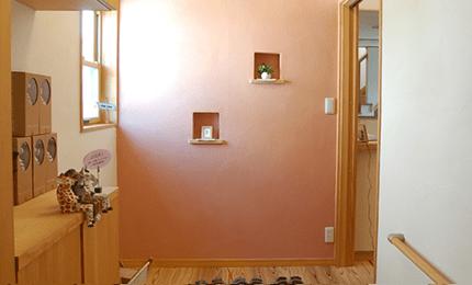 珪藻土の壁、色も選べます